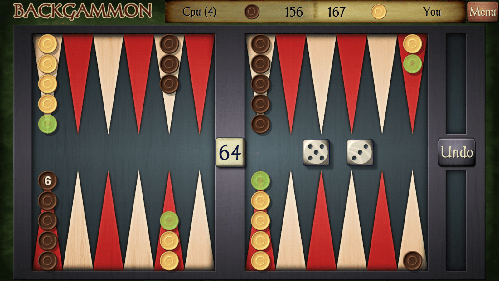 Different types of variants of backgammon game played by people